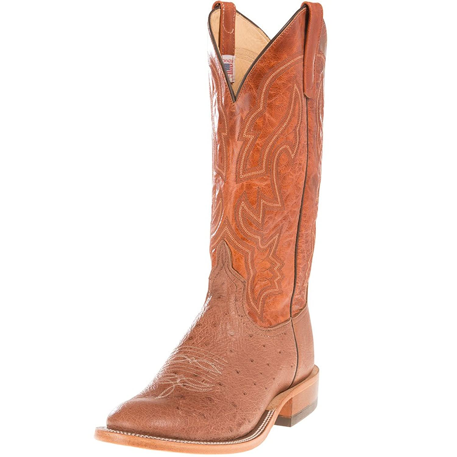Anderson Bean Mens Exclusive Rum Smooth Ostrich Cowboy Boots