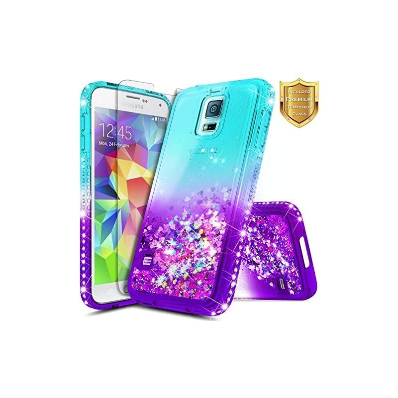 S5 Case, Galaxy S5 Glitter Case w/[Tempe
