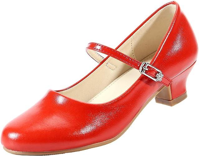EIGHT KM Ragazze Tacchi Bassi Scarpe Eleganti da Cerimonia Mary Jane Scarpe
