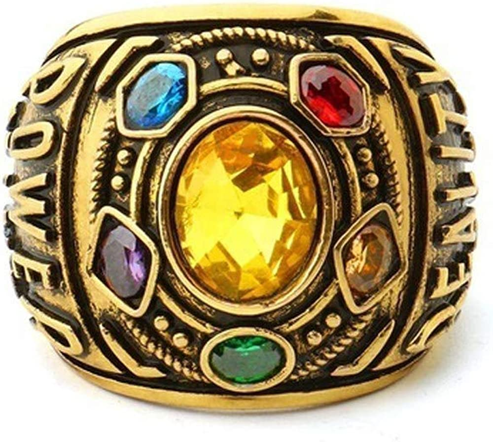 Vintage Rings,Alalaso Power Ring Infinity Wars Thanos Jewelery Bracelet Letter Men's Ring