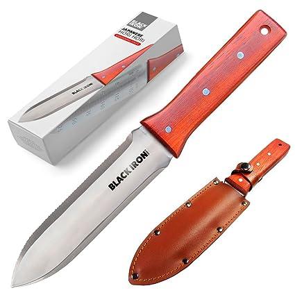 Black Iron Tools Hori Hori Garden Knife, Ideal Gardening Digging  Landscaping Weeding Tool, Stainless
