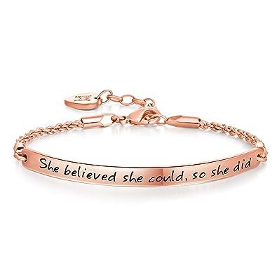 Annamate Cuff Bangle Bracelet Engraved