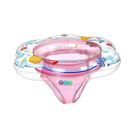 Flotador Bebe Anillo de baño para Bebe 1-3 años Barco Inflable Flotador Juguetes de