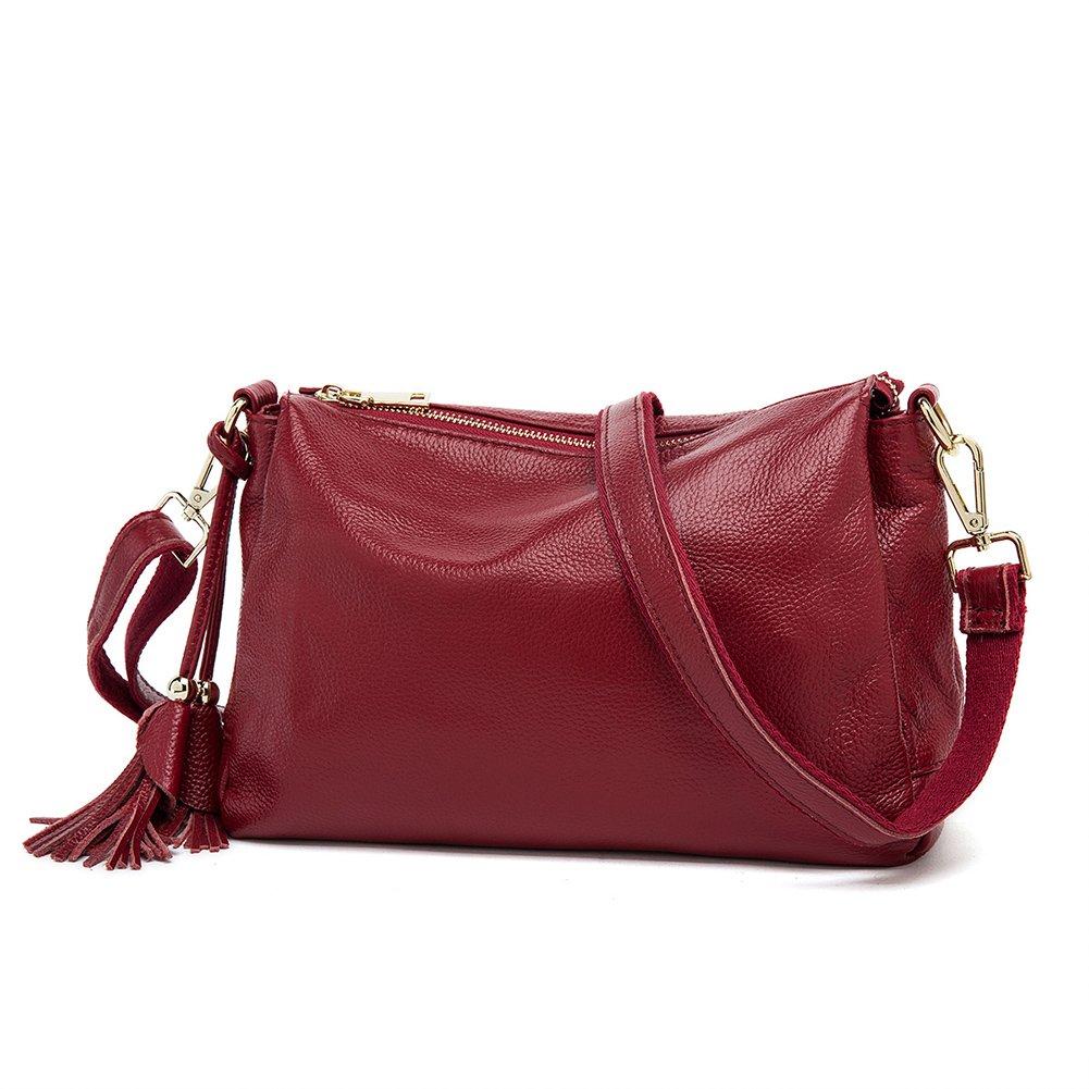 Pochette en cuir véritable pour les femmes petits sacs à main souples sacs à bandoulière messenger vachette souples sacs à bandoulière