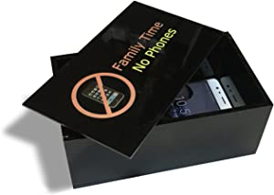 Family Time No Cell Phones Storage Box Privacy