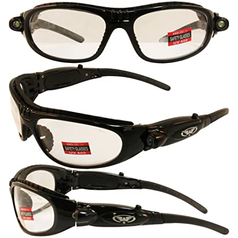 7e7a6728d0 Global Vision High-beam Lighted Padded Safety Glasses Clear Lens Z87.1 -  Led Safety Glasses - Amazon.com