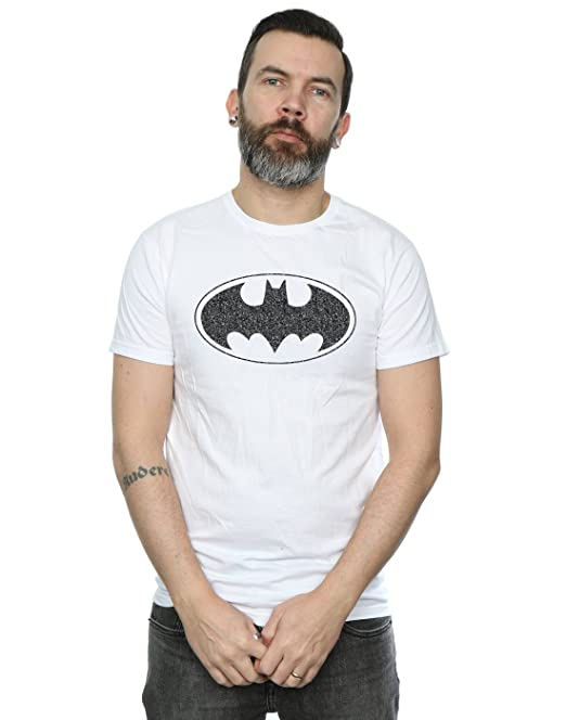 74fed8c6e DC Comics Hombre Batman One Colour Logo Camiseta  Amazon.es  Ropa y  accesorios