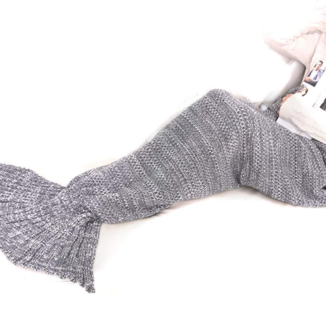 Keysui Sirena Manta hecha a mano de ganchillo sirena de punto de ...