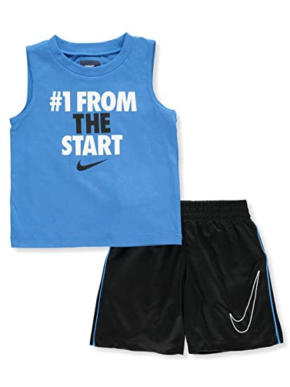 Amazon.com  Nike Baby Boys  2 Piece Sleeveless Shirt   Shorts Set ... e67e1cecd