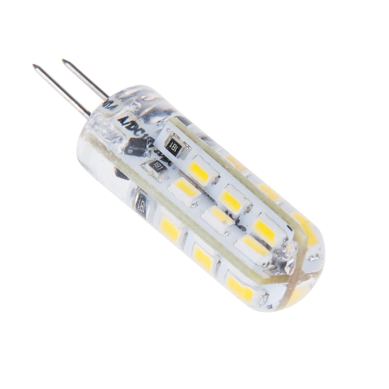 Bloomwin- G4 LED Bombilla Lámpara 3014 SMD Foco Blanco Frío 3W DC12V 350 lm 2800-3200K La Luz de 360 °: Amazon.es: Iluminación
