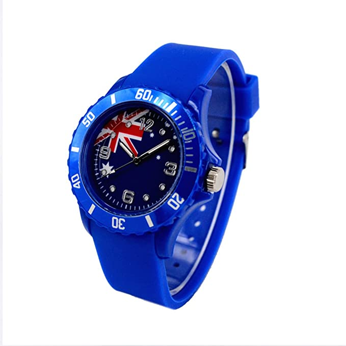 Reloj con la bandera de Australia con pulsera de Silicona