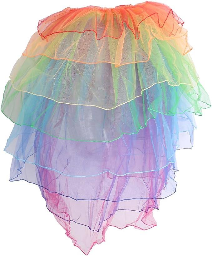 Gazechimp Falda Multicolor con Cola Disfraz Pompa para Danza ...