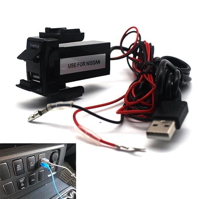 Amazon.com: Doble puerto USB cargador de coche con Socket de ...