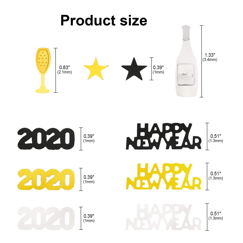 HOWAF 15 pi/èces 2020 Nouvel an Suspendu tourbillonne D/écoration Noir Or et Argent et 2020 Nouvel an Confetti de Table pour Decoration Nouvel an 2020 Deco Fete Nouvelle Ann/ée