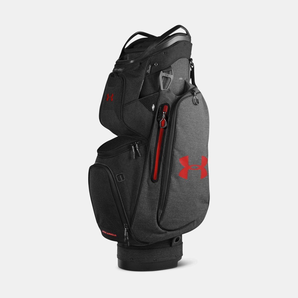[UNDER ARMOUR] アンダーアーマー Men's UA Storm Armada Cart Bag Carbon Heather/Black [並行輸入品] B074Z2S8XG
