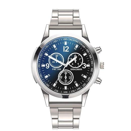VEHOME Relojes de Lujo Reloj de Cuarzo Reloj de Acero Inoxidable con Brazalete Informal-Relojes Inteligentes relojero Reloj reloje hombresRelojes de Pulsera ...