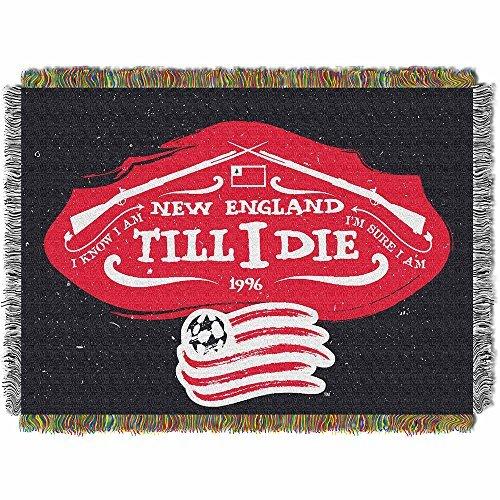 (Northwest 051 N. E Handmade NOR-1MLS051010008RET New England Revolution MLS Woven Tapestry Throw Blanket, 48 x 60, 48