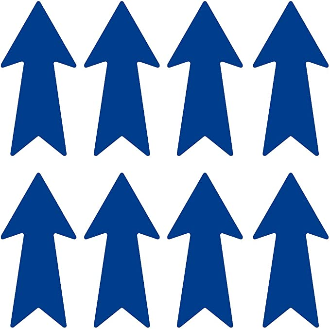 LiteMark 8 Inch Blue Removable Warehouse Directional Arrow Decal ...