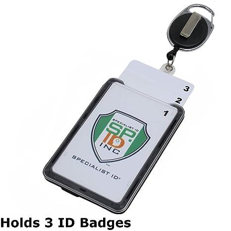 Amazon.com: Soporte de plástico duro para 3 tarjetas con ...