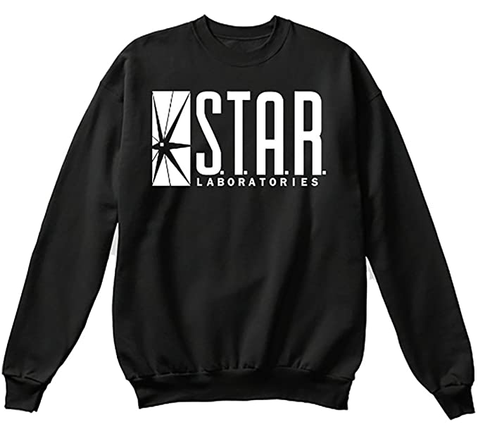 NuffSaid Star Laboratories Star Labs Sweatshirt Sweater Crew Neck Pullover - Unisex - Premium Print - Youth Sizing at Amazon Mens Clothing store: