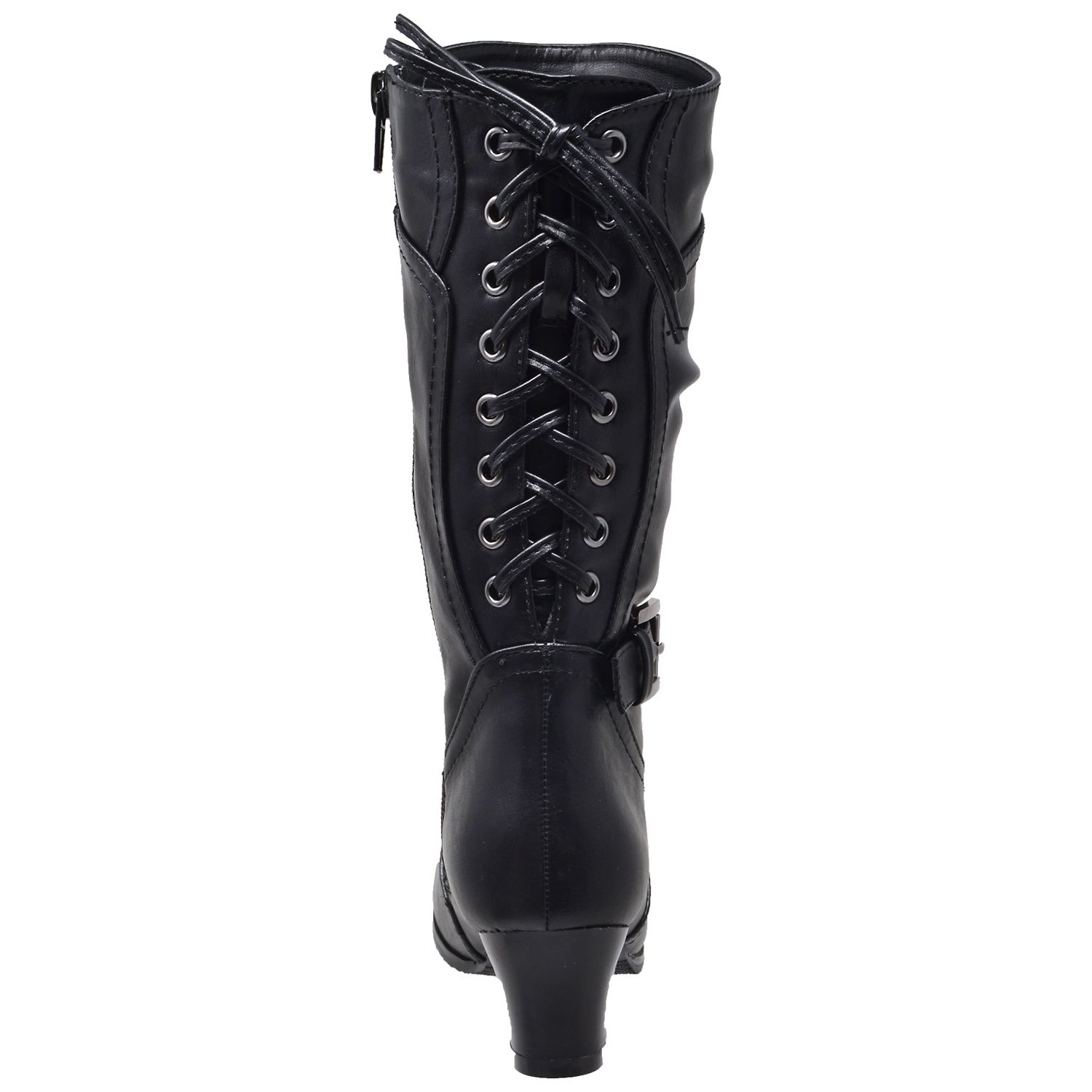 f6a1f47a6534 Amazon.com | Generation Y Kids Girls Knee High Boots Corset Lace Up Back  Buckle Strap Low Heel Shoes GY-KB-JOE-55 | Boots