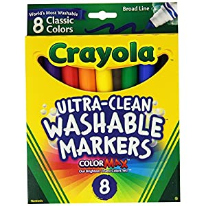 Crayola Broad Point Washable Markers – Pack of 2 (58-7808-2Pack)