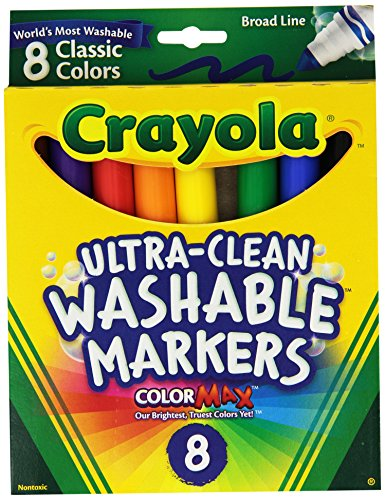 Crayola Broad Point Washable Markers - Pack of 2 (58-7808-2Pack) (Brands Sofa List)