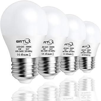 Bombilla LED Esférica Casquillo E27, 5 W, Equivalencia 45 W ...