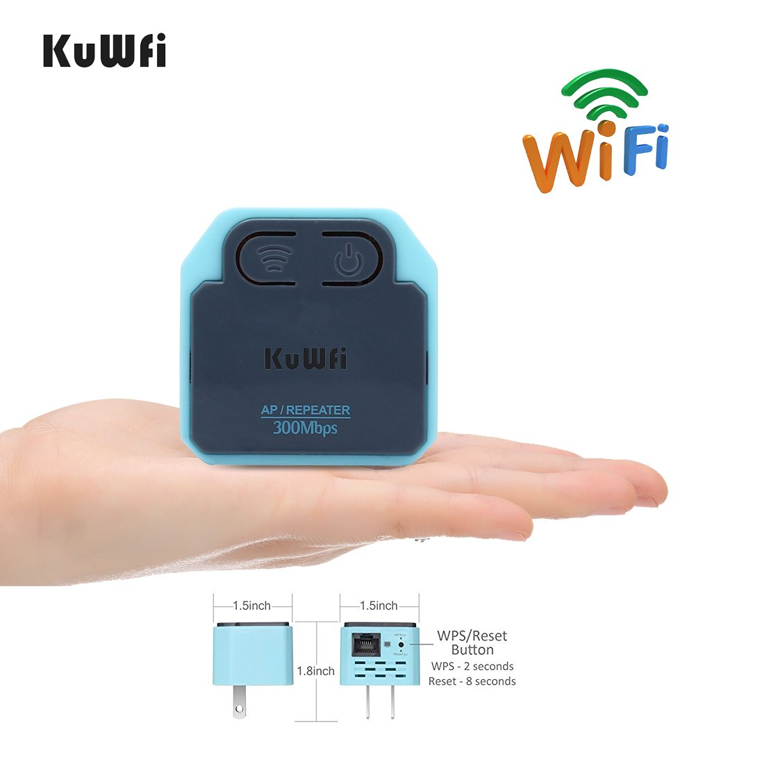 300Mbps WIFI Extender ,KuWFi MINI Wireless Repeater 2 4Ghz AP Router  802 11N Wall Plug Wi-Fi Signal Amplifier Range Extender Booster