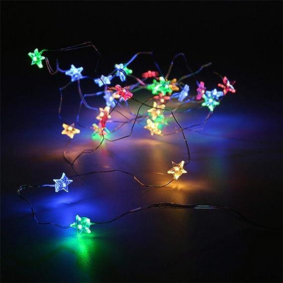 Amazon.com: Cadena de luces de hadas con 50 luces LED: Home ...