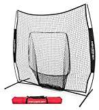 PowerNet Team Color Baseball Softball 7x7 Hitting Net w/ bow frame (Black)