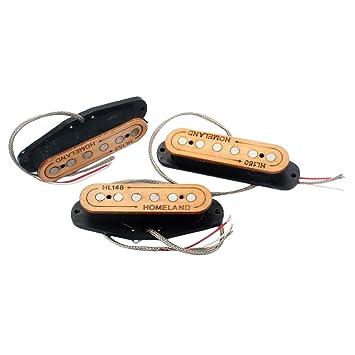 MagiDeal Pastillas De Madera Con Herida Manual Alnico 5 48/50/52 Para Fender Stratocaster Strat ST Guitarra Eléctrica: Amazon.es: Instrumentos musicales