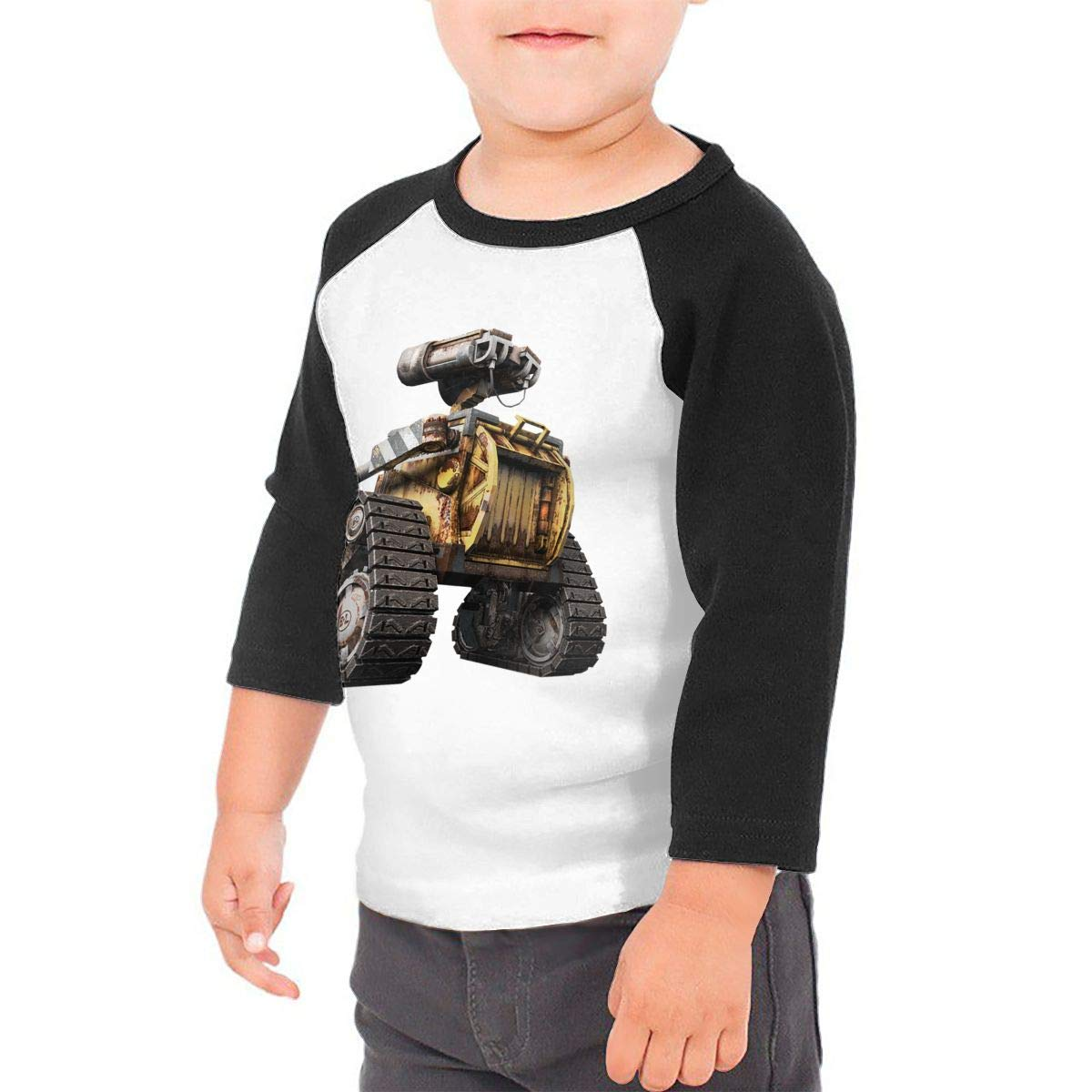 Kid's Toddler WALL E 3/4 Sleeve Raglan Baseball Jersey For 2-6T Fillmore-M