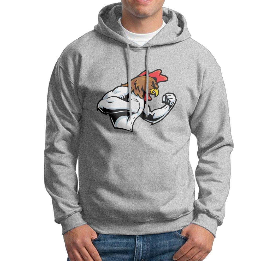 Arsmt Hooded Sweatshirt Mens Funny Pullover Fleece Hoodie Rooster Fight