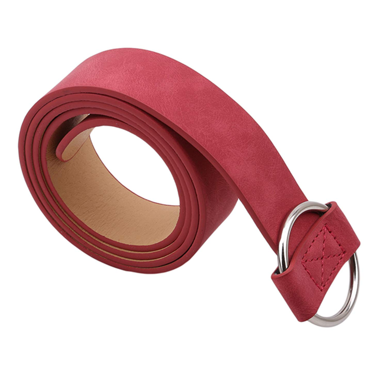 Female Casual Round Buckle Wide Belts For Women Dress Jeans Belt Woman Ladies Faux Leather Straps