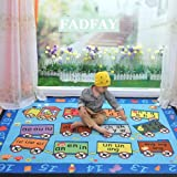 FADFAY Home Textile,Modern Cartoon Train Kids Large Rugs For Living Room,Designer Figure Children's Rugs,Brand Cartoon Blue Bedroom Carpet