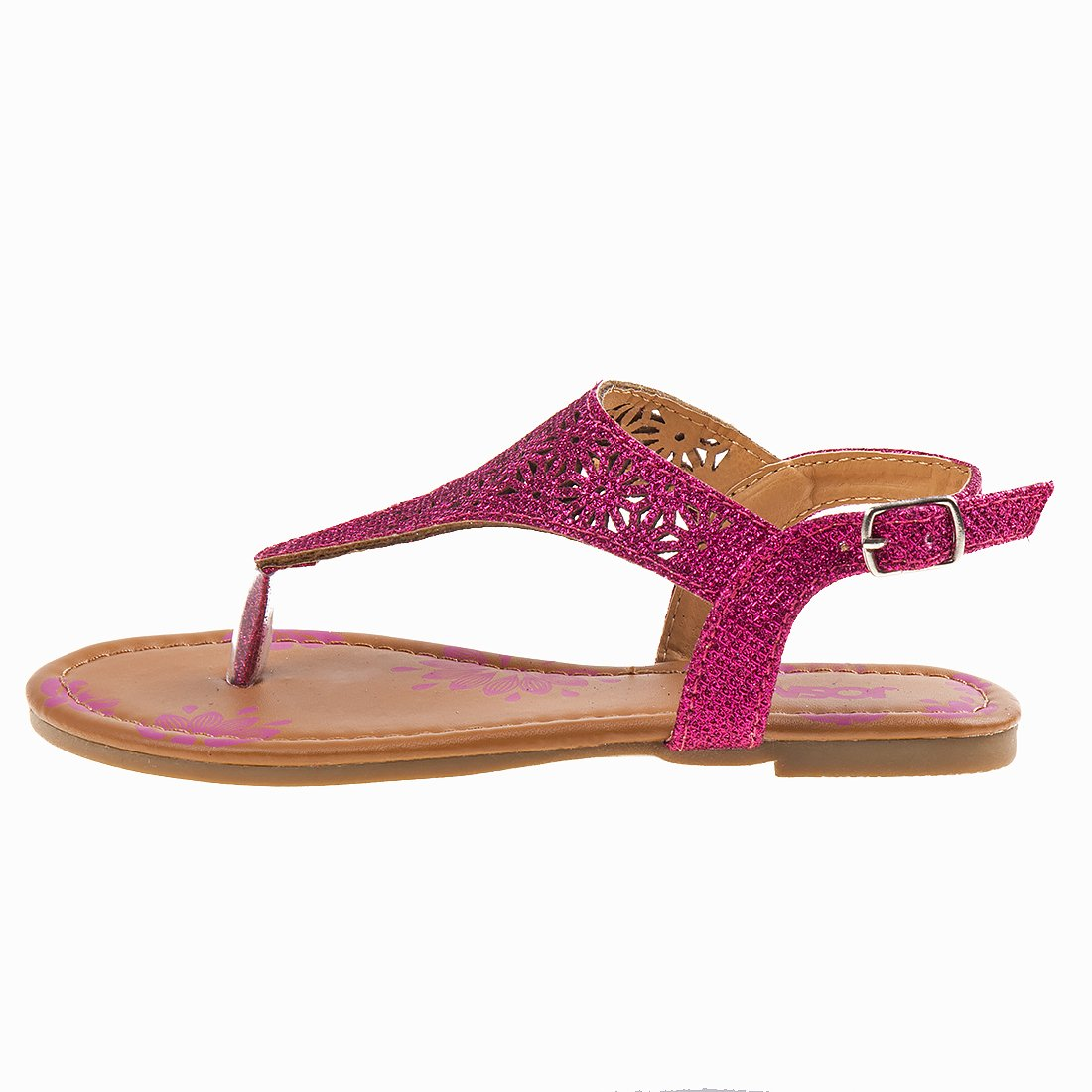 Josmo Girl's T-Strap Glitter Thong Sandals, Pink, 3 M US Big Kid' by Josmo (Image #2)