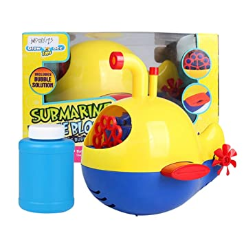 Amazon.com: LtrottedJ Dolphin Cartoon Electric Bubble Machine Blower Maker Party Outdoor Toy for Kids (B): Toys & Games