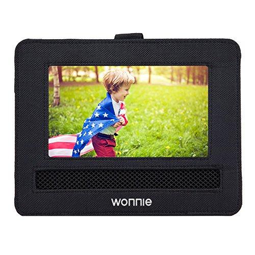 WONNIE 7-7.5 Car Headrest Mount Holder Strap Case for Portable DVD Players
