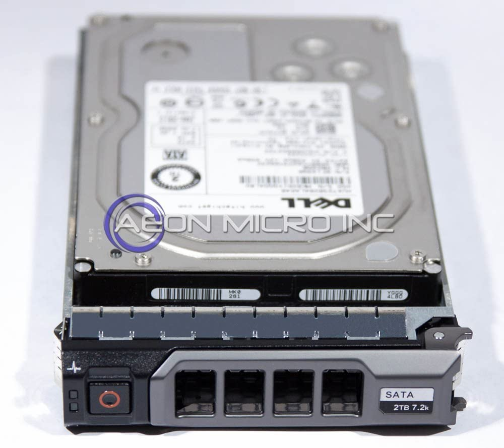 Dell 2 TB 7200 RPM 3.5 inch Enterprise Class Serial ATA (SATA) Hard Drive W/ Tray for PowerEdge Servers. Mfr. P/N: 0VGY1F (Renewed)