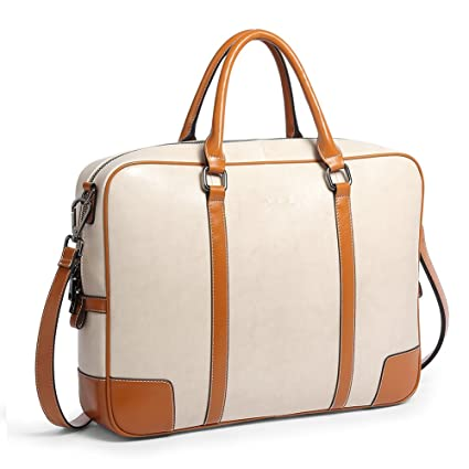 0bbc254a2ca7 BOSTANTEN Leather Briefcase Messenger Satchel Bags Laptop Handbags for Women