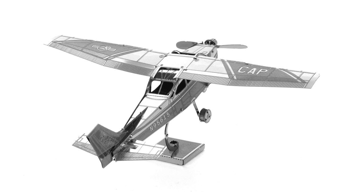Fascinations Metal Earth Cessna 172 Airplane 3d Radio Wiring Model Kit Toys Games