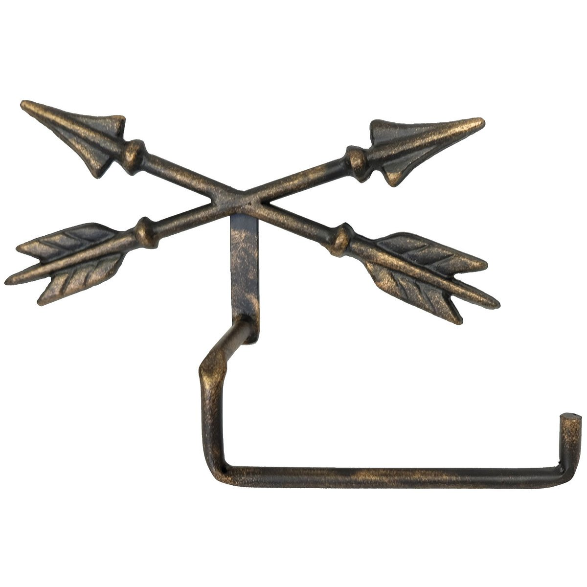 Crossed Arrow Metal Wall Toilet Paper Holder