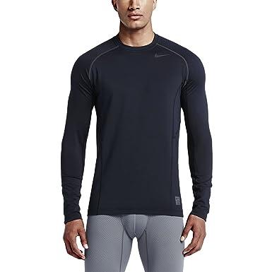 Nike Pro Combat Hyperwarm Dri-FIT Max Fitted Men's Long-sleeve Shirt,  Obsidian