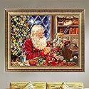 nnda Co DIY 5dダイヤモンド絵画クロスステッチクリスマスサンタクロースcraftshome壁装飾、1set
