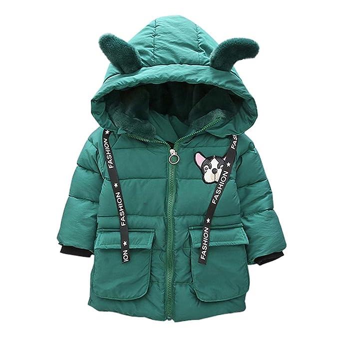 Bambine Caldo Inverno Cotone Piumino Cappotto con Cappuccio Giacca lungo Parka