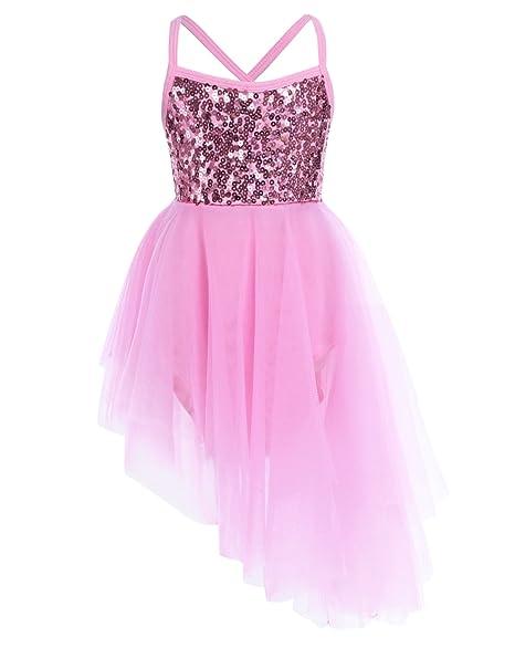 2e8f445f0b688 iiniim Kids Girls' Sequined Camisole Ballet Tutu Dress Ballerina Leotard  Outfit Dance Wear Costumes