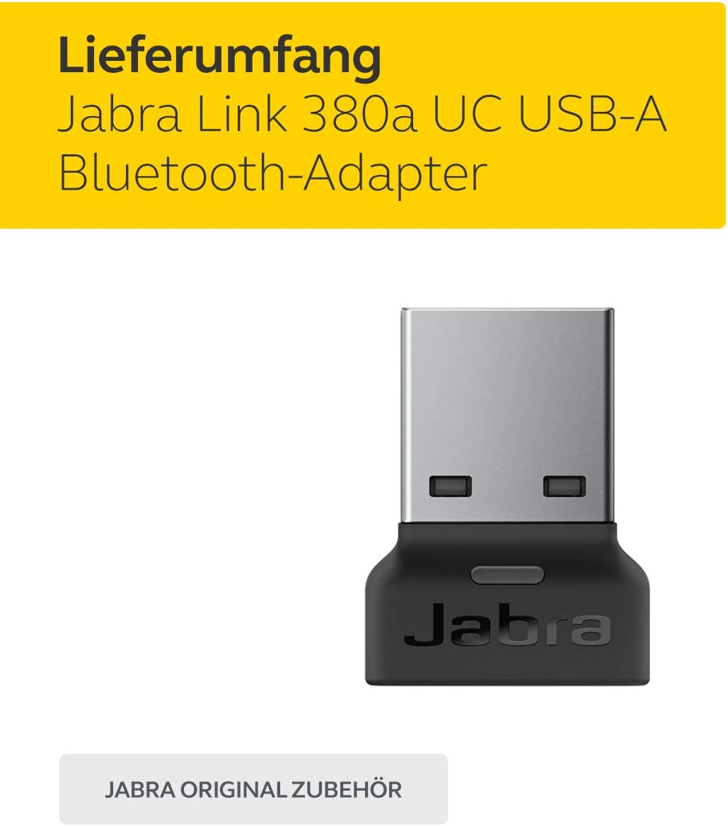 Jabra Link 380c Uc Usb A Bluetooth Adapter Wireless Dongle For Evolve2 85 And 65 Headsets Elektronik