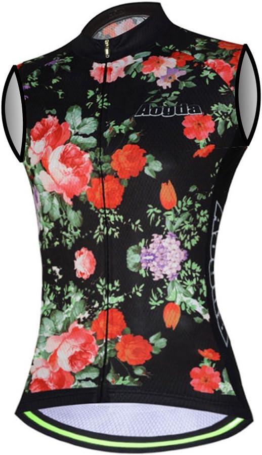 Aogda Cycling Vests Jerseys Women Bike Shirts Team Biking Sleeveless Clothing Tops Tights Bicycle