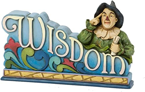 Jim Shore Wizard Of Oz Scarecrow Wisdom Plaque